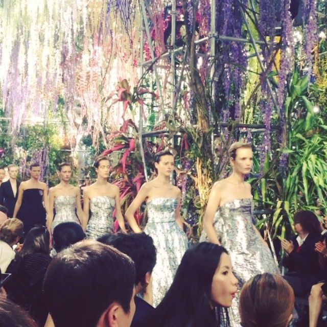 Smokings and evening dresses finale at #Dior #SS14 #PFW