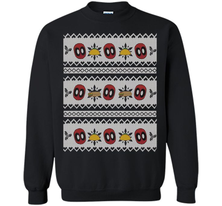 Deadpool Taco Ugly Christmas Sweater Graphic T-Shirt