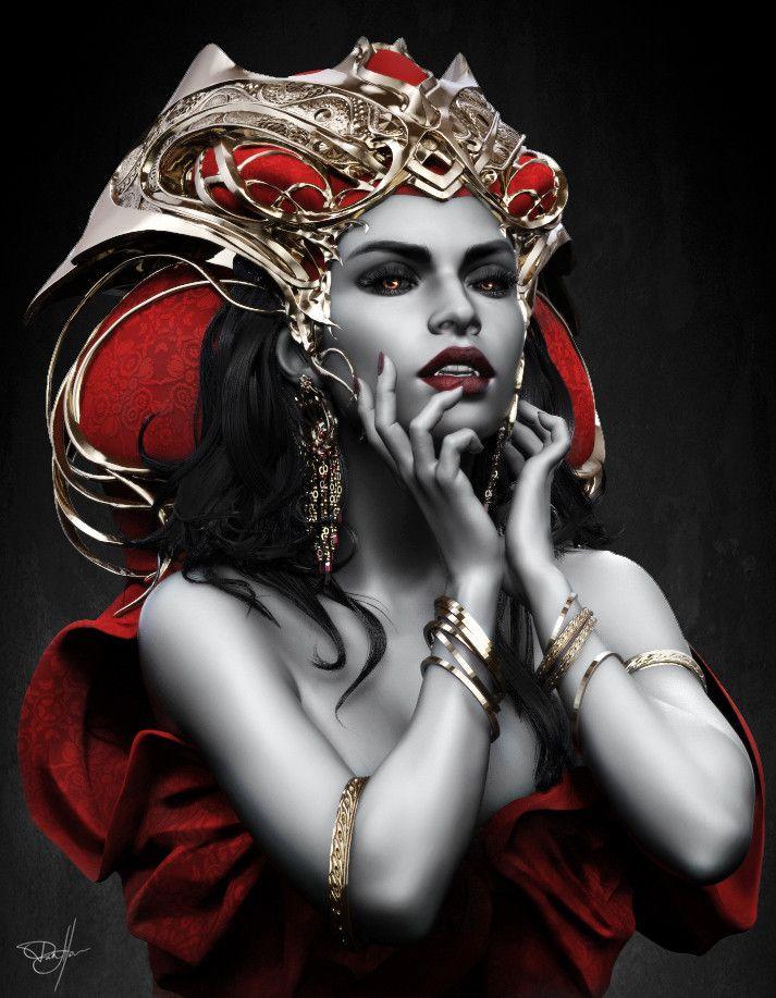 Vampire Queen, George Panfilov on ArtStation at https://www.artstation.com/artwork/3bw5A