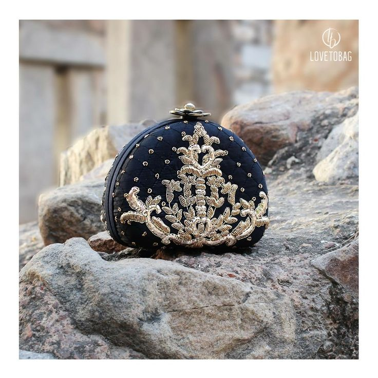 Gold, Delicate Embroidery & Deep Hues is all one can ask for in the coming season! Black Crown Clutch by Lovetobag, now on SALE ! Shop Now at: www.lovetobag.com  #SALE #Lovetobag #Pearl #GrabNow #Potli #Tassels #ShopNow #Bag #BagLove #MadeInIndia #HandEmbroidered #Handwork #JapaneseBeads #Chic #Fashion #Trendy #Classy #Black #Gold #Pouches #Potlis