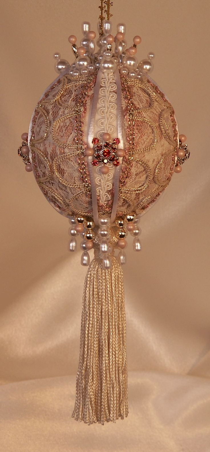 Rose colored ornaments - Victorian Style Ornaments - Heirloom ornaments