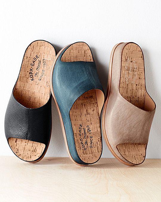Kork-Ease® Tutsi Leather Slides