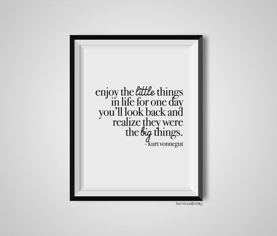 Enjoy the Little Things... by Marianne on Etsy