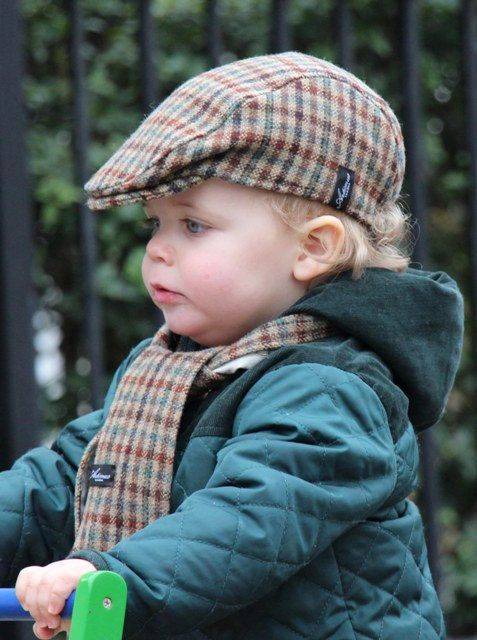 46300d09 Items similar to The Balham - Brown Check tweed children's flat cap and  scarf on Etsy