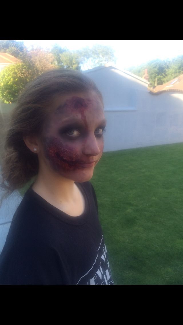 Turned my little cousin into a zombie