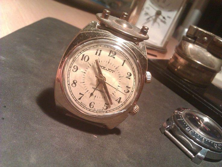Zegarek- POLJOT 18 jewels au złoty-budzik iwc