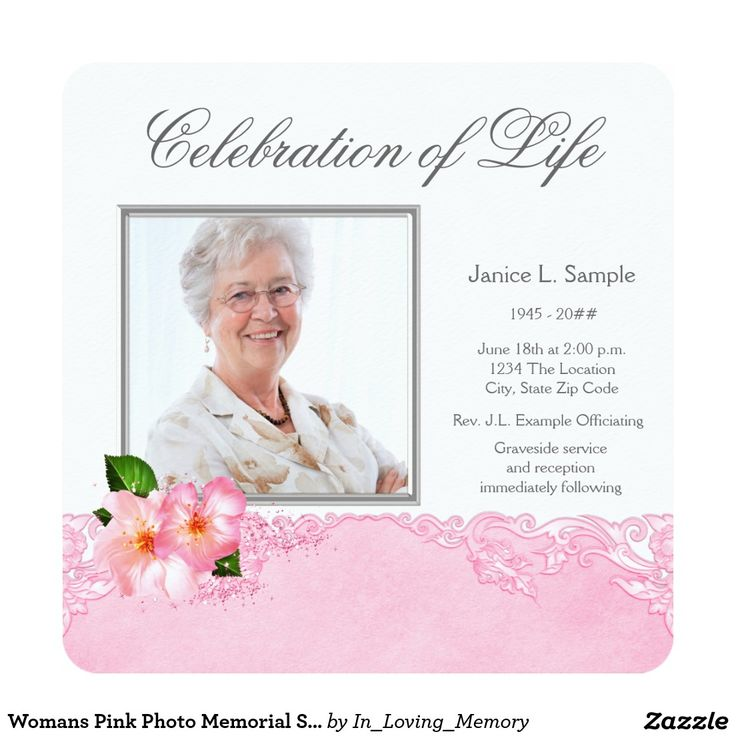32 best images about Funeral Invitations Announcements on – Funeral Invitation Cards
