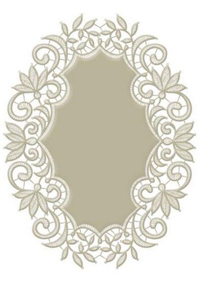 heirloom  oval cards | Spellbinders Heirloom Oval dies