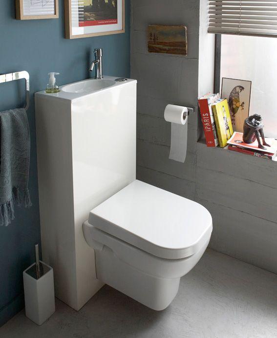 106 best WC Suspendu avec LAVE MAINS INTÉGRÉ images on Pinterest - meuble pour wc suspendu leroy merlin
