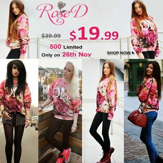 """Shopping with Glenz: Romwe """"Rose D"""" flash sale, only 24 hours!"""