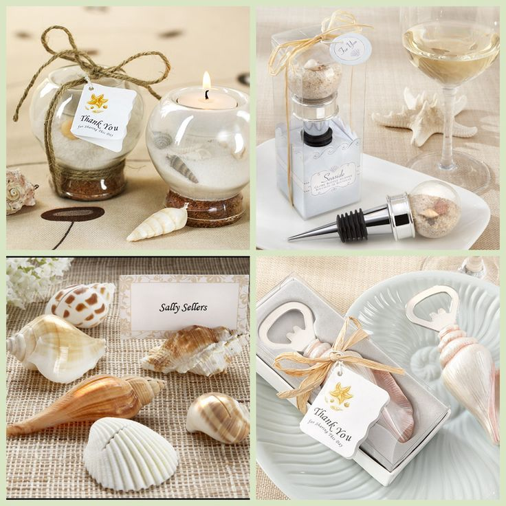 Seashell Themed Beach Party Favors from HotRef.com