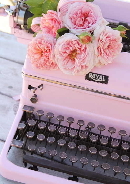I have a Smith-Corona portable that's pink!  My Aunt Gladys gave it to me when I was in high school.