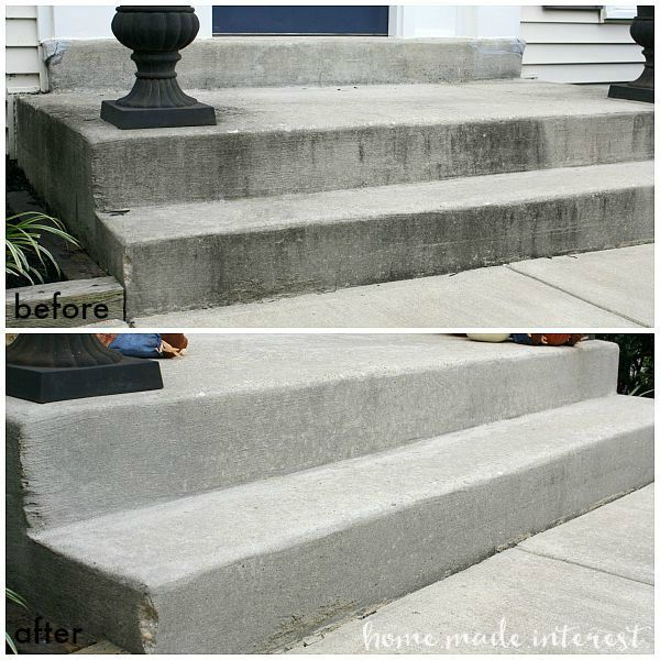 Cleaning your concrete is an easy home improvement and makes such a difference in your curb appeal. We show you how simple it is to DIY with this tutorial on how to clean concrete.