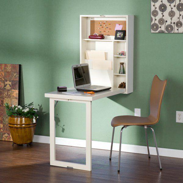 Le bureau escamotable d cisions pour les petits espaces - Table pliante au mur ...