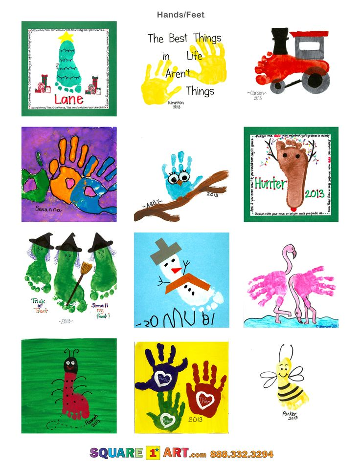 Cute hands and feet art ideas! #square1art @Square 1 Art www.square1art.com