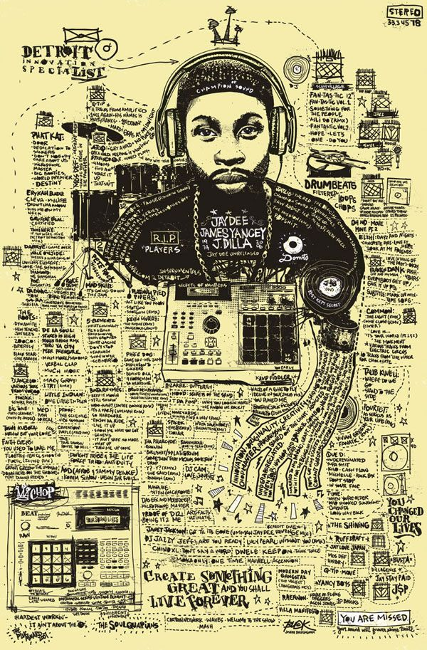 """""""J DILLA the SpeciaLIST,"""" created by artist and designer Joe Buck"""