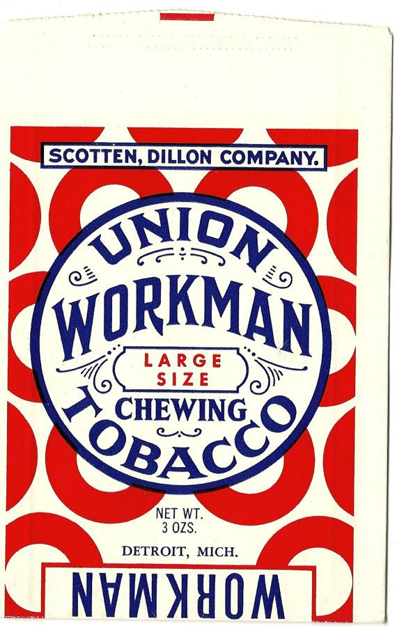 Union Workman Chewing Tobacco Bag, 1920-30s