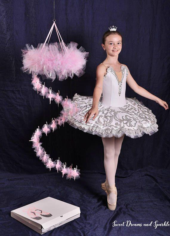 Ballerina mobile Cascading ballet mobile Large nursery mobile