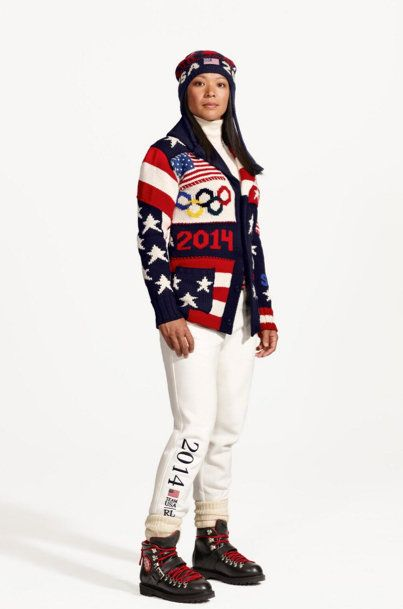 Team USA uniforms. MADE in the USA. Sochi 2014