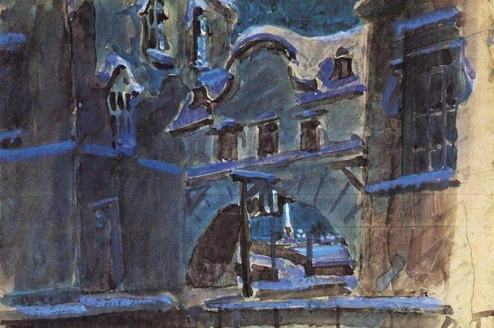 Зимняя канавка. . 1901 - Врубель Михаил