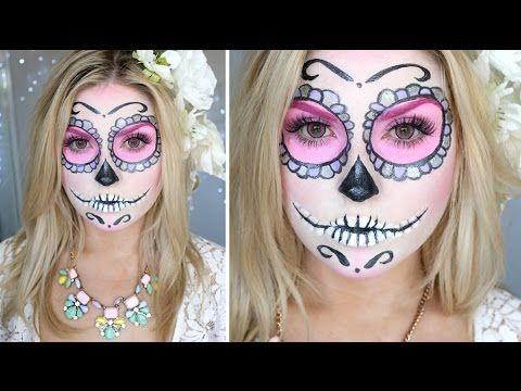 Sugar Skull Makeup Tutorial ♡ Shaaanxo - YouTube