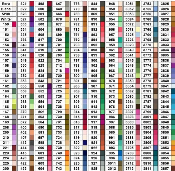Dmc Colors Chart For Diamond Painting 447 Colors Pdf File Printable Colors Are In Numerical Order Useful For In 2020 Diamond Paint Printable Chart Diamond Painting