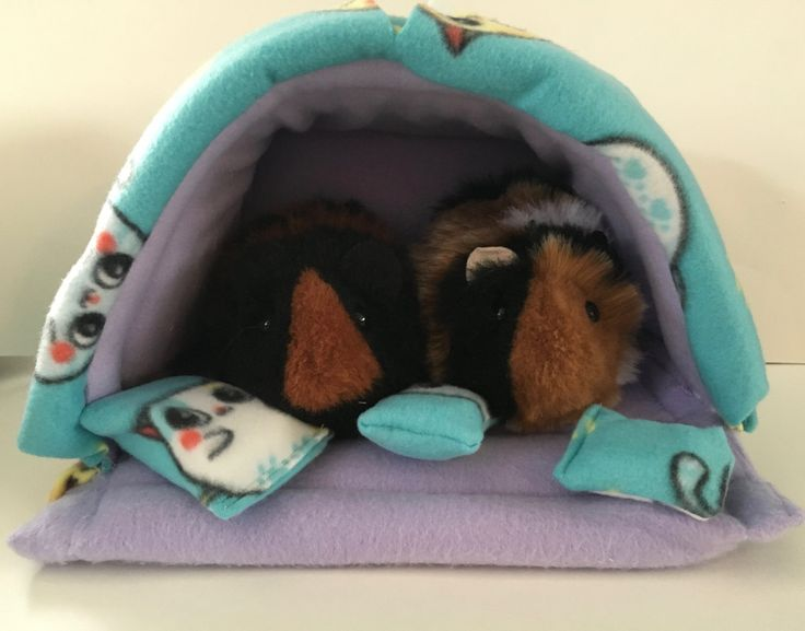 New to CreatedbyLauraB on Etsy: Guinea pig bed guinea pig hideout guinea pig cozy pet hideout pet bed guinea pig accessories guinea pig fleece small pet bed (45.00 USD)