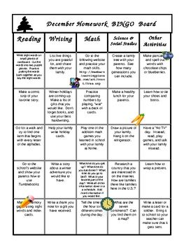 Tired of parents that want you to send home homework.  Try this monthly BINGO project.  Let the parents and child choose the activities that intere...