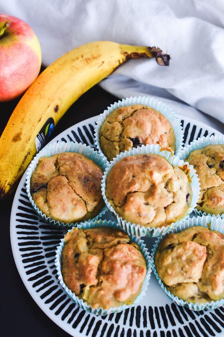 Apfel-Bananen-Muffins: Gesundes Rezept – Perfekt für Kinder   – Kleinkinder: Tipps, Basteln, Spielideen, Rezepte & mehr
