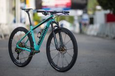2017 Bianchi Methanol CV hardtail race mountain bike with Countervail vibration damping technology