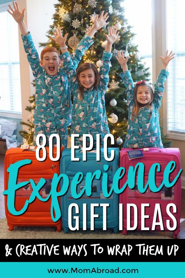 80 Epic Experience Gift Ideas And Creative Ways To Wrap Them Up Experience Gifts Christmas Experiences Epic Gift