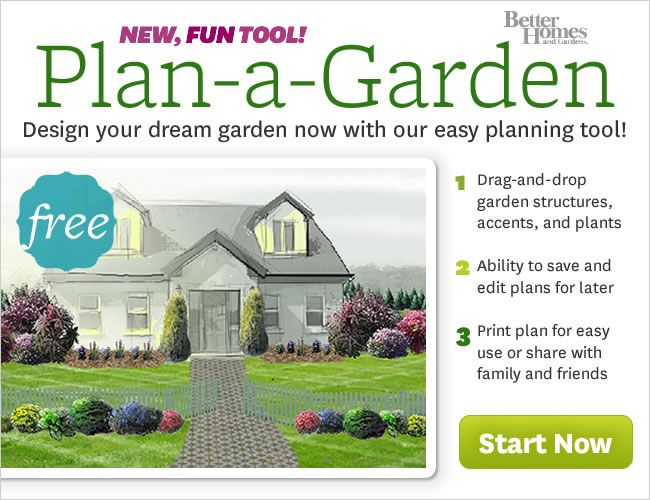 """Welcome to Plan-a-Garden In a few minutes you can create a beautiful yard or garden. Share Save Print Design a patio-side container garden, a full garden or design your whole yard. Just """"drag-and-drop"""" 100's of trees, shrubs, and flowers. Plus dozens of structures, sheds, fences, decks -- and more!"""