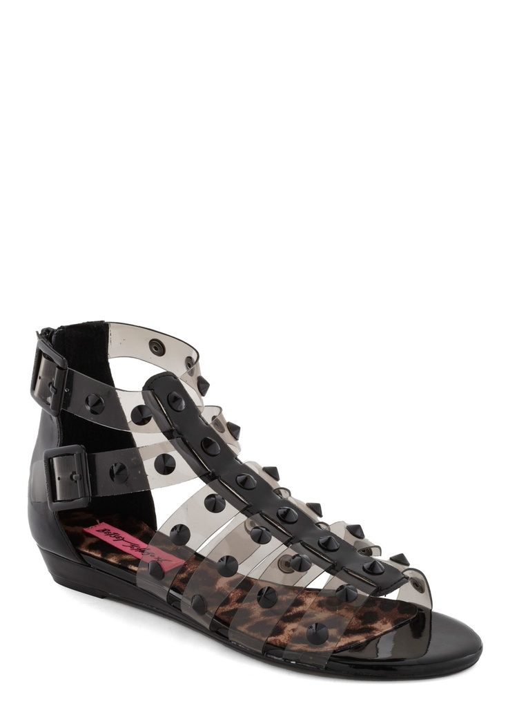 3/23/12 studded sandals by Betsey Johnson. Happy Birthday Keri Russell!