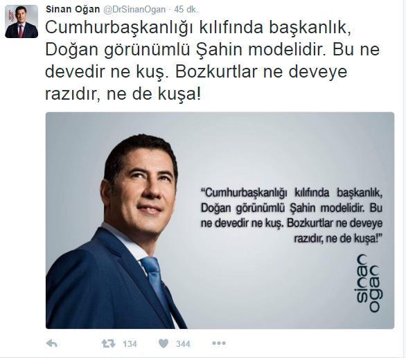 Mhp genel başkan adayı Sinan Oğan, işgalci Bahçeli'ye Başkanlık için sert tepki gösterdi.