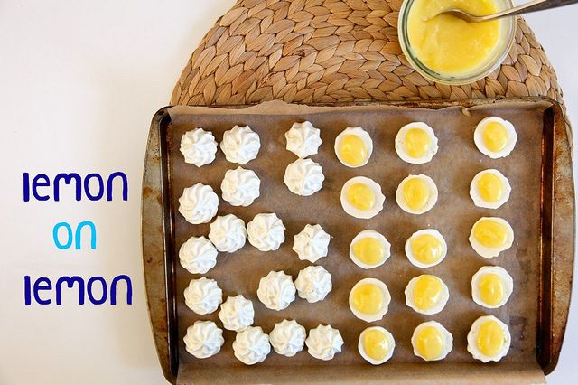 lemon on lemon by joy the baker: Lemon Meringue Cookies, Lemonade Parties, Lemon Curd, Lemon Infused, Infused Meringue, Cookies Cookies, Lemon Heavens, Joythebak Com, Baker