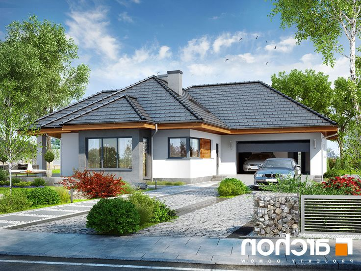 projekt Dom w powojach 3 (G2) lustrzane odbicie 1