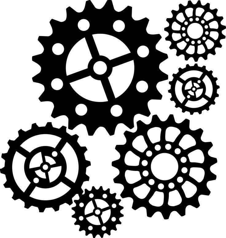 steampunk gear stencil - Google Search                                                                                                                                                                                 More