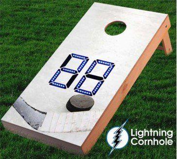 Electronic Scoring Ice Hockey Cornhole Board