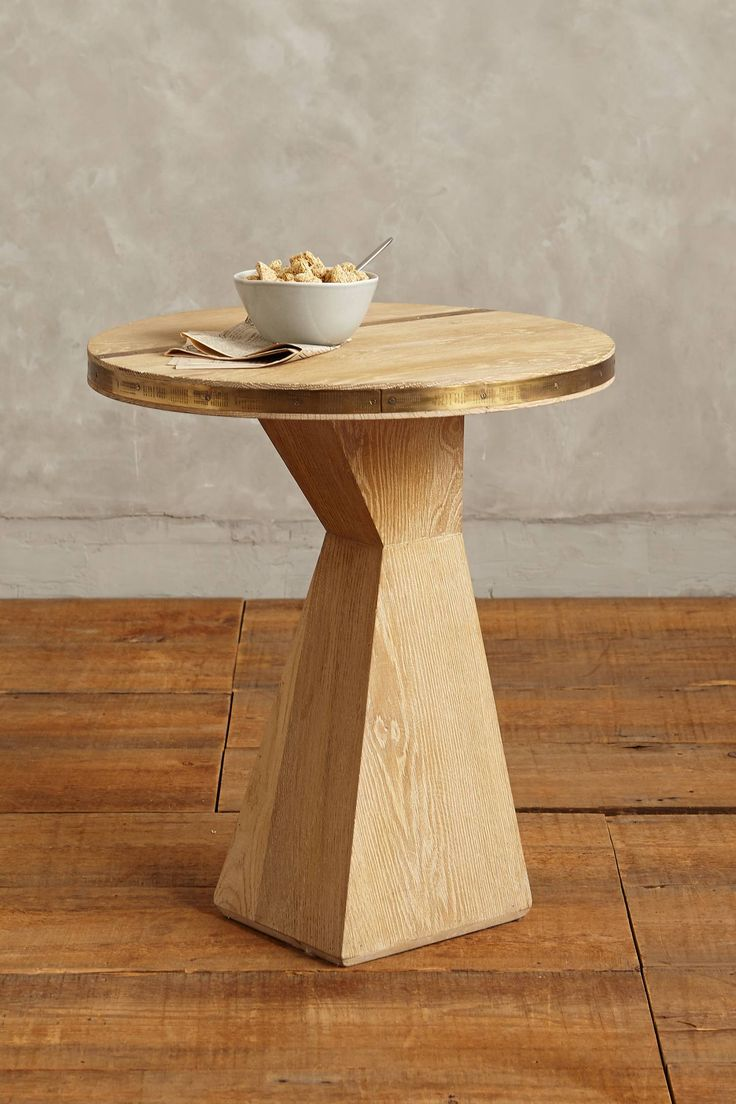 Slim round end table modern accent table with drawer calvin end table - Folkthread Side Table Gablebase Anthropologie Com
