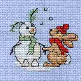 Snowbunny Cross Stitch Kit: Cross stitch (Mouseloft, 014-H33stl)
