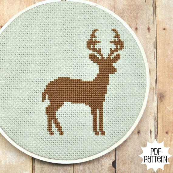 Reindeer Cross Stitch: Counted Crosses Stitches, Crafts Ideas, Crosses Stitches Patterns, Crossstitch, Homemade Xmas Gifts, Crosses Stich, Deer Crosses, Cross Stitches, Cute Crosses Stitches