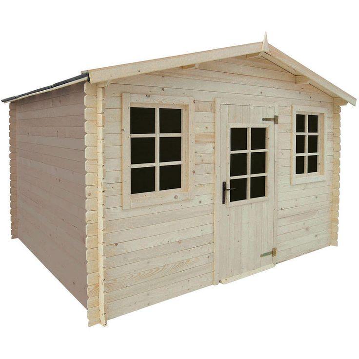 MADEIRA Abri de jardin bois Cham 8.55m² pas cher prix promo Auchan 949.00 € TTC au lieu de 1 389 €