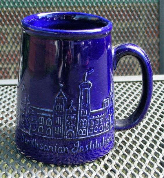 Blue Bennington Pottery Smithsonian Institute mug by NikkisThings