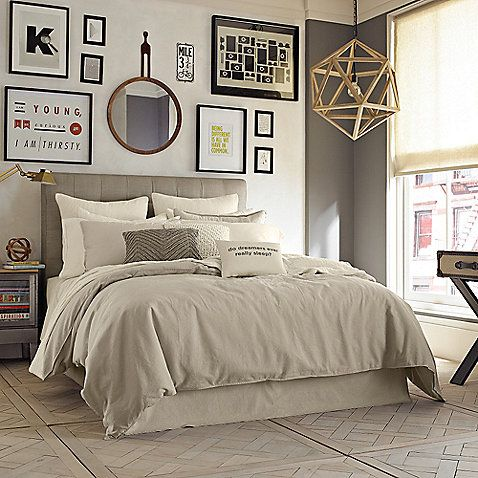 Give any room a cozy, lived-in look with the Kenneth Cole Reaction Home Mineral Duvet Cover. Crafted of a soft linen and cotton blend, the beautiful bedding brings an effortless touch of understated luxury to your bedroom's décor.