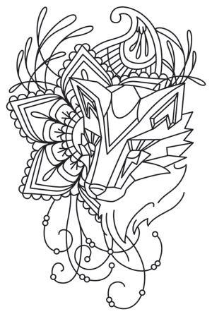 Anima - Fox design (UTH6804) from UrbanThreads.com 9 August 2013