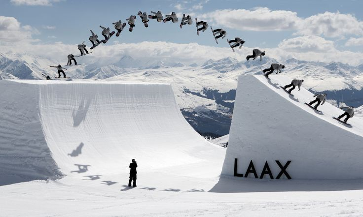 LAAX Ski Arena - Man they always know how to spoil their boarders...nice boardpark & pipes