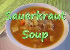 This is an old Pennsylvania Polish recipe. It is another unique way to cook with sauerkraut. Tonight I am cooking this sauerkraut soup with chicken. Come for a visit to Tess's Kitchen. How to make Homemade Sauerkraut Soup INGREDIENTS: 6 cups chicken broth 2 cups cubed cooked chicken 32 oz of sauerkraut - drained and rinsed 5