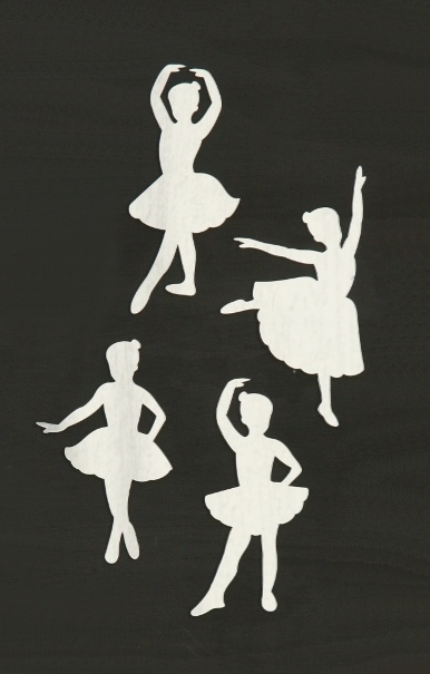 Ballerinas set of 4 acrylic mirrors. 16-16.5cm high 7-10.5cm wide. Available from our online store for $16.95 + postage. Cut from a high quality lightweight 3mm acrylic - Can be hung with Blu-tack.