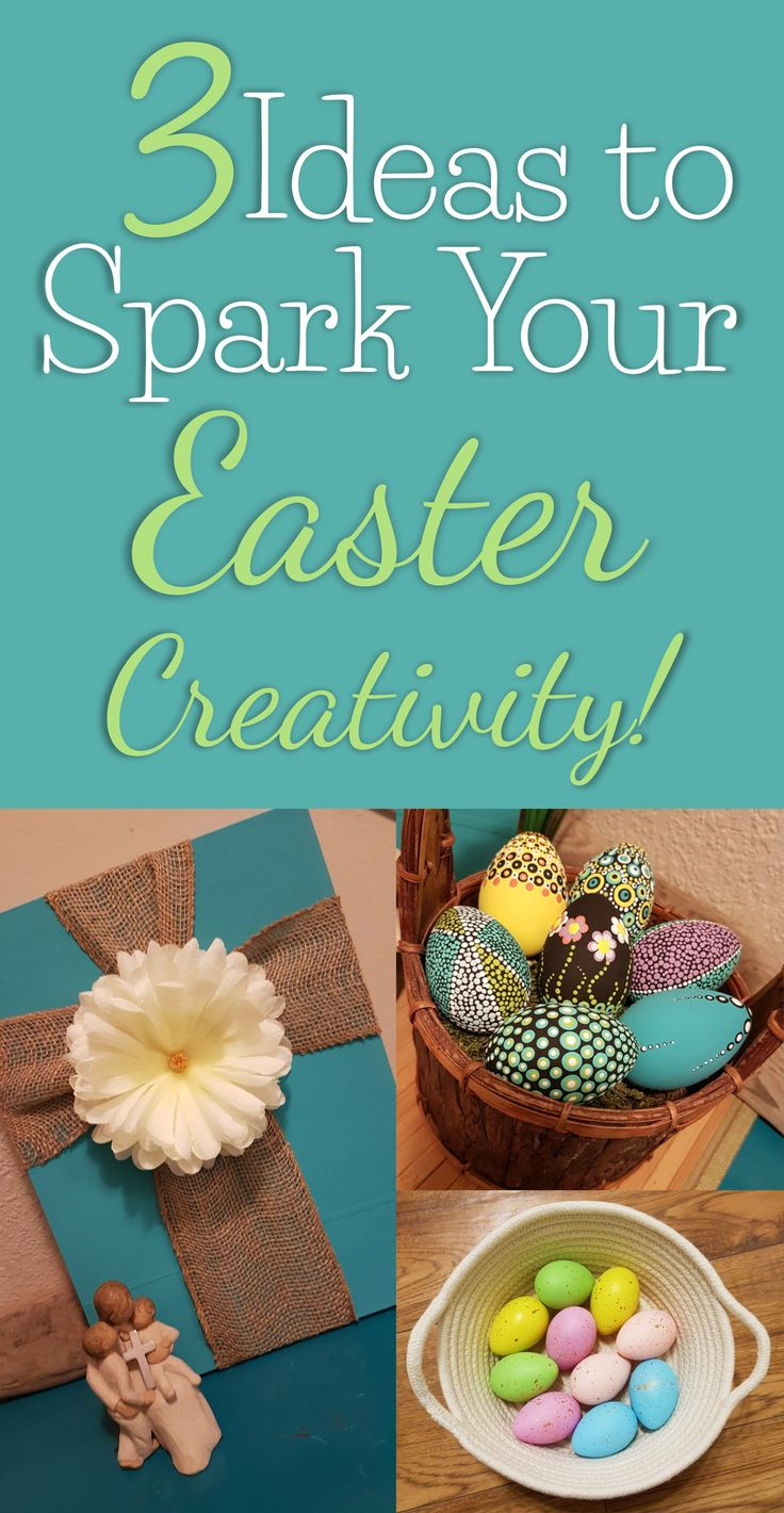3 Ideas to Spark your Easter Creativity! Decorate in a budget-friendly way with this tutorial using dollar store items to create these beautiful crafts! #eastercrafts #easterdecorations #easterdecorationideas #dollarstoredecorating #dollarstoreeaster #easter