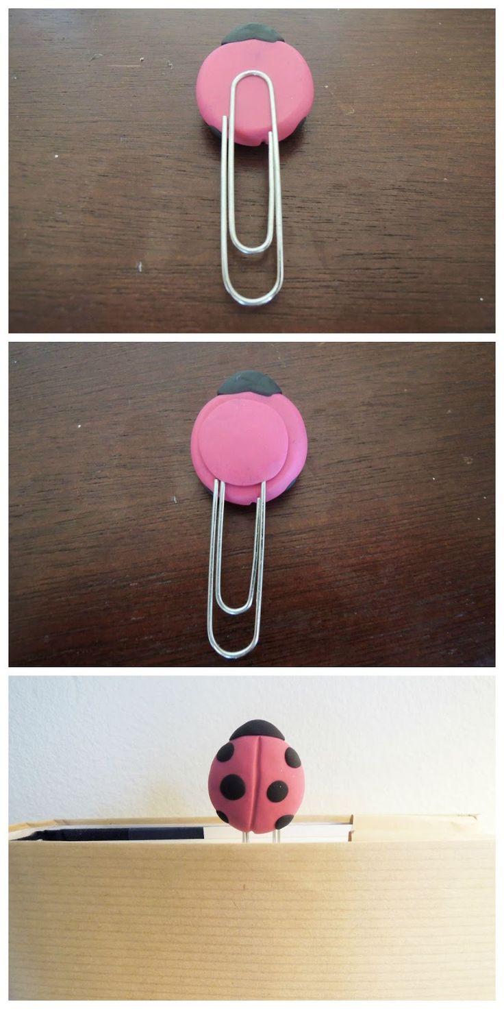 Holly Goes Lightly: DIY Ladybug Bookmark